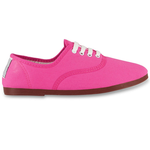 FLOSSY FUCHSIA PINK LACE UP