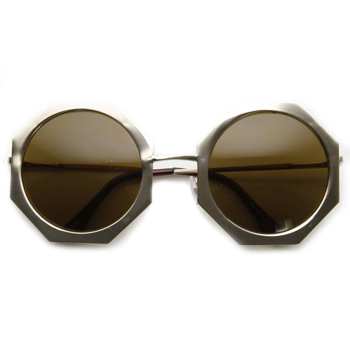 DAPMOD OCTAGON SHAPED ROUND EYE GLASSES RND021
