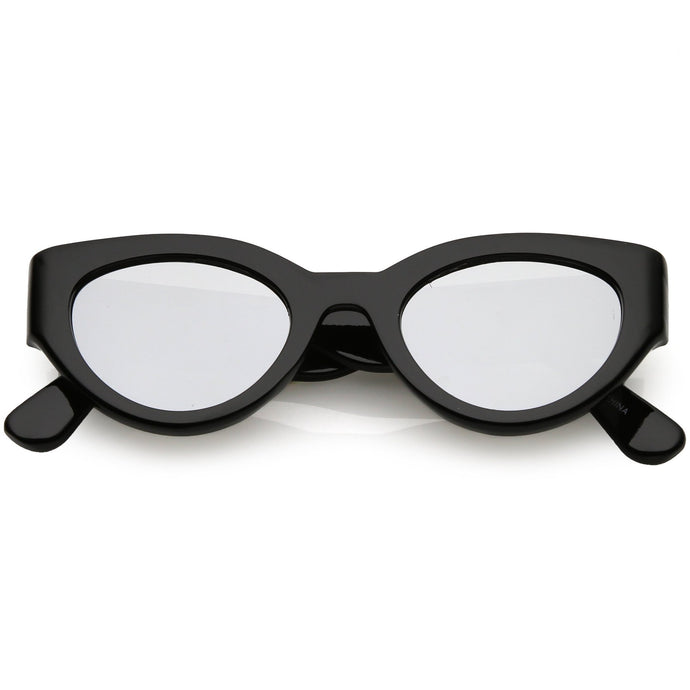 DAPMOD OVIEDO OVAL SHAPED MIRRORED SUNGLASSES RND1915