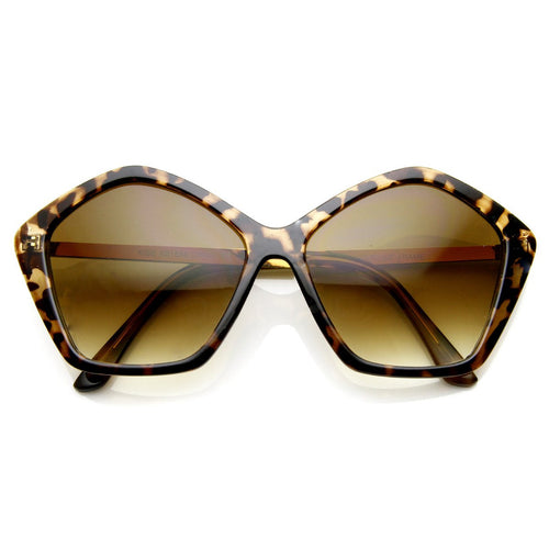 DAPMOD HECTAGON SHAPED SUNGLASSES SQR0081