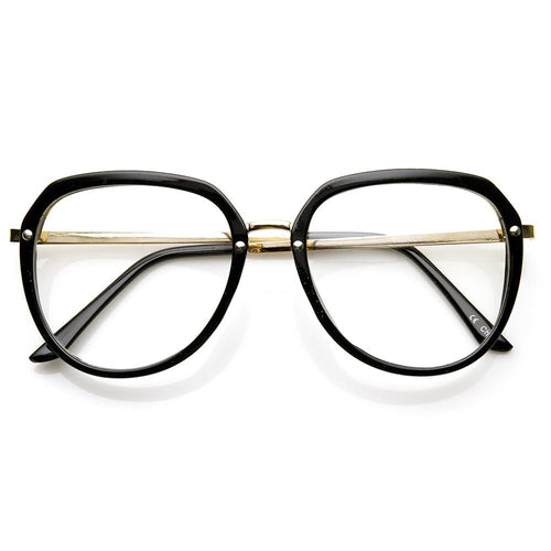DAPMOD AVIATOR STYLE CLEAR GLASSES CLR011