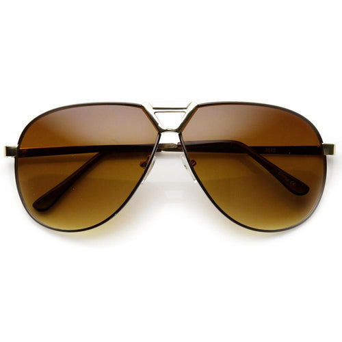 DAPMOD LARGE METAL AVIATOR GLASSES SQR071