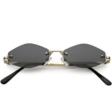 DAPMOD CANARIA HEXAGON SHAPED NARROW SUNGLASSES SQR1930