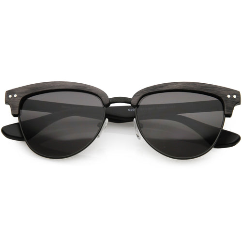 DAPMOD WOOD FRAME CLUB MASTER STYLE SUNGLASSES GLASSES SQR1946