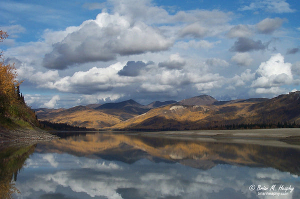 """Fall Reflections On The Yukon"" - Premium Luster Print"