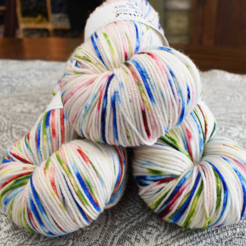 Charm Quarks colorway, HerStory by Knitted Wit