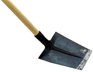 "Square Laminated Shovel - 10.5""x 8.5"" with 53"" Beech Handle"
