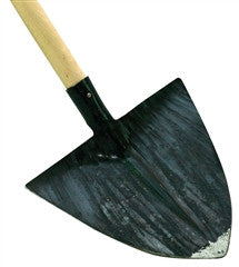 "Pointed Laminated Shovel - 11.5""x 12.5"" with 53"" Beech Handle"