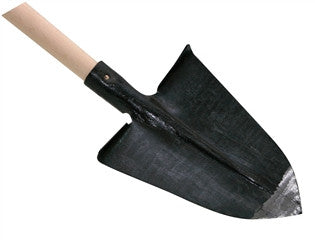 "Pointed Spade with Step - Laminated with 53"" Beech Handle"