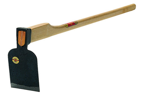 "Heavy Root Hoe 3.3lbs - 7.5""x 5"" with 53"" Ash Handle"