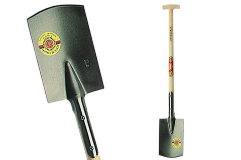 "Carbon Steel German Spade 4.7lbs - 10""x 7"" with 35"" Ash T Hand"