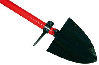 Pointed Spade with Metal Handle and Welded Foot Board