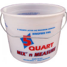 ENCORE 05166 5QT CLEARVUE RINGFREE PAIL WITH WIRE HANDLE & GRADUATIONS