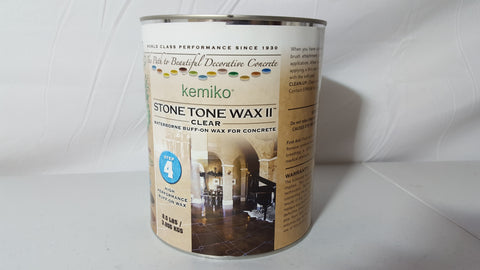 Stone Tone Wax II (Waterborne Buff-on Wax for Concrete)