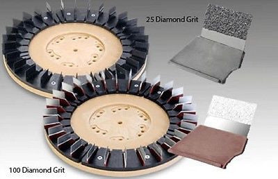 "25 Grit CW Replacement Kit 24 Pcs - For 14"" & 15"" Brushes"