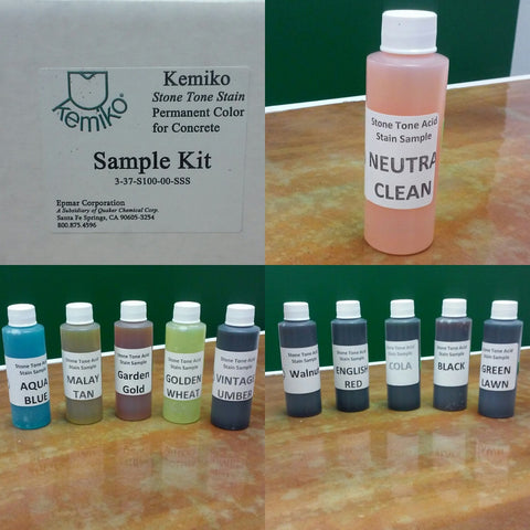 Stone Tone Stain/Neutra Clean Sample Kit