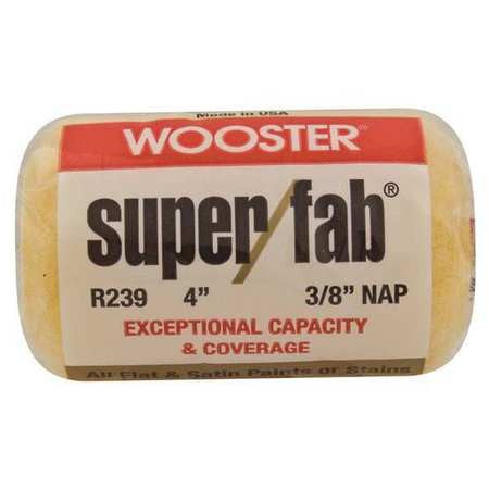 "Wooster Brush R239 - 4"" Super/Fab Roller Cover, 3/8 nap"