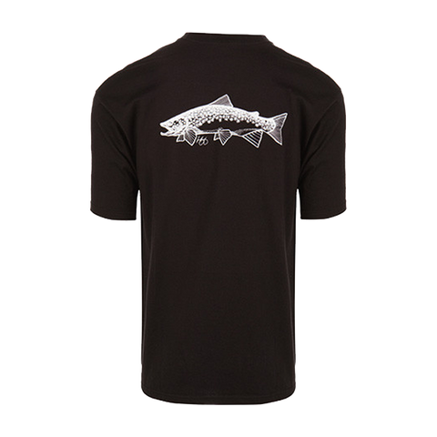 Micro Thin Fly Lines | Black Brown Trout T-Shirt - Sunray Fly Fish  - 2