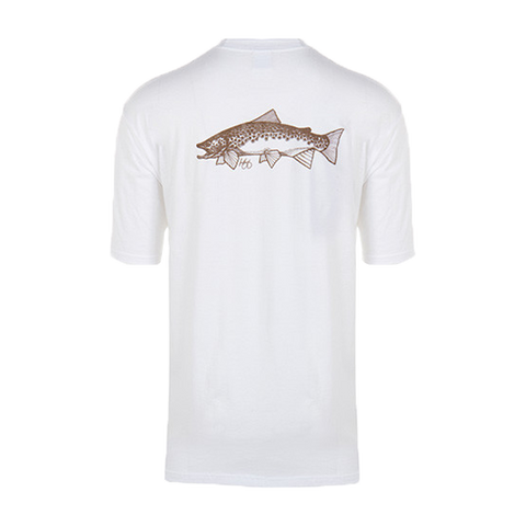 Micro Thin Fly Lines | White Brown Trout T-Shirt - Sunray Fly Fish  - 2