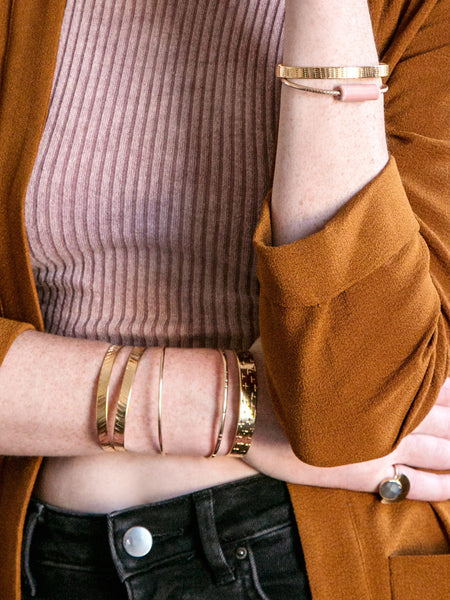 soft gold co arm party cuff bracelets stacking jewelry lookbook spring summer