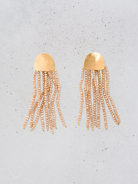 Beaded Fringe Arch Earrings / Limited Edition