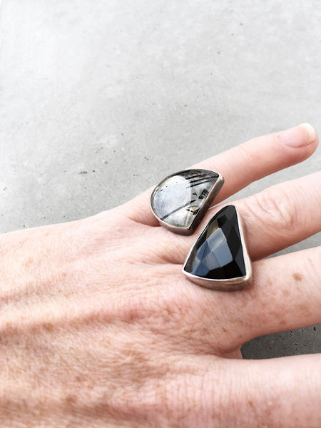 Onyx Double Statement Ring / OOAK