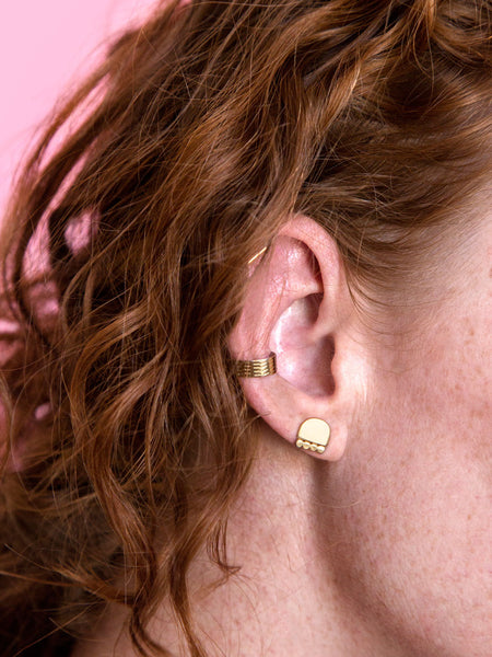 stud earring party soft gold co cairn studs
