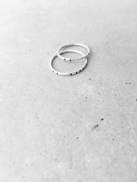 minimal silver jewelry stacking ring set carved tribal softgoldco