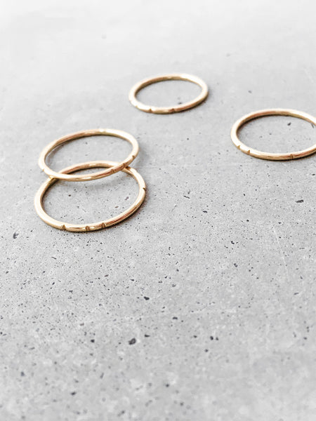 softgoldco stacking ring set gold minimal jewelry