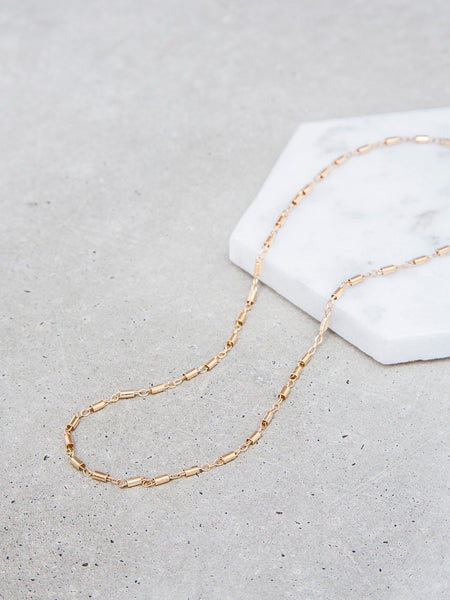 Tube & Link Choker Necklace