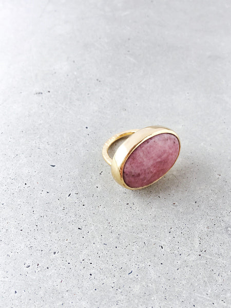 Mauve Pink Statement Ring