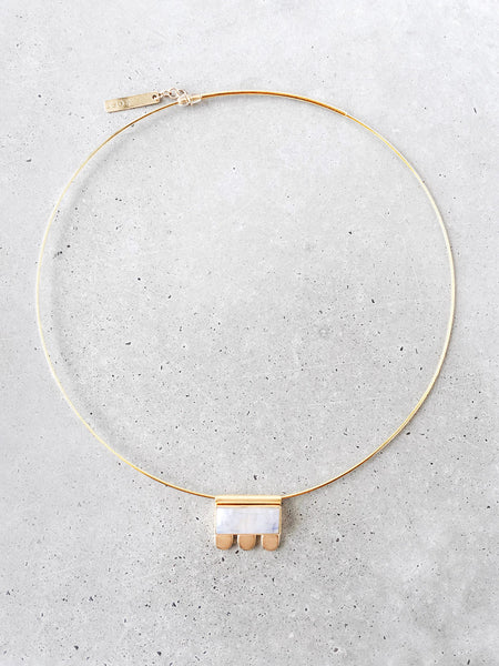 moonstone gold choker necklace statement jewelry soft gold co concrete