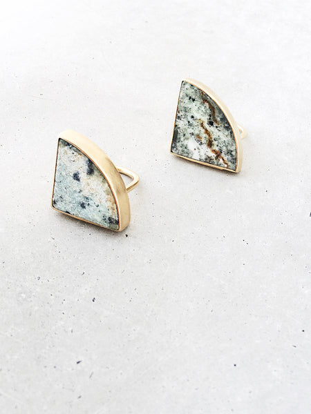 Marble Radius Statement Rings | 14k gold vermeil | metalwork jewelry by Soft Gold Co.