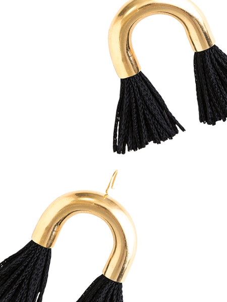 Short Arch Double Tassel Earrings