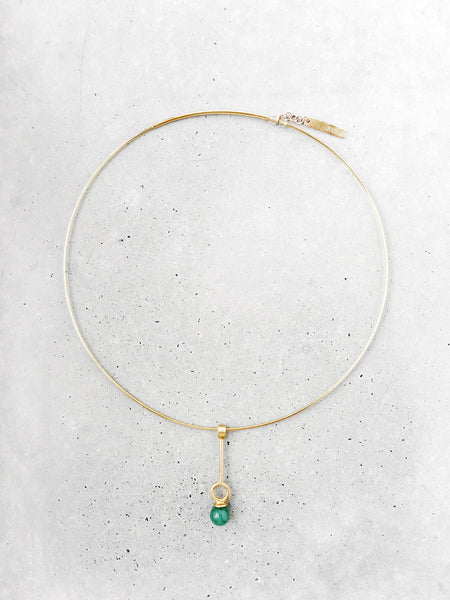 stoned circle drop choker necklace full soft gold co