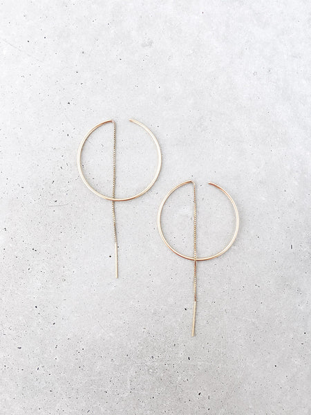 Threaded Hoop Earrings | 14k gold filled for sterling silver | modern minimal jewelry by Soft Gold Co.