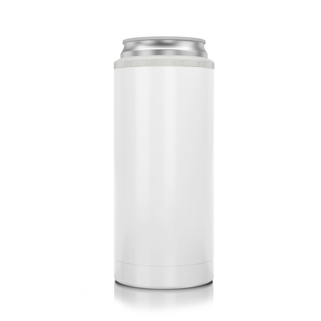 Slim Can Koozie Gloss White