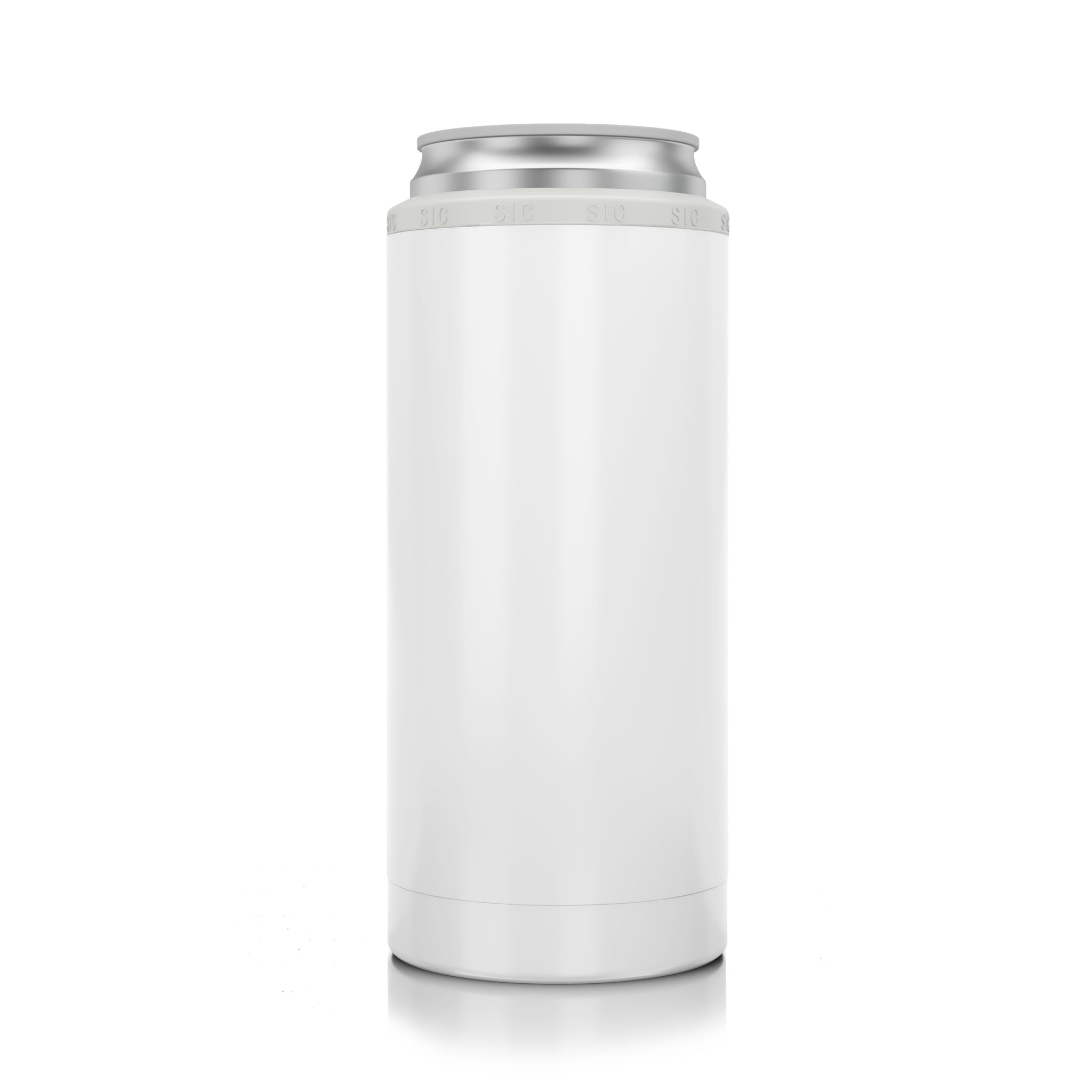 SIC Slim Can Cooler Gloss White