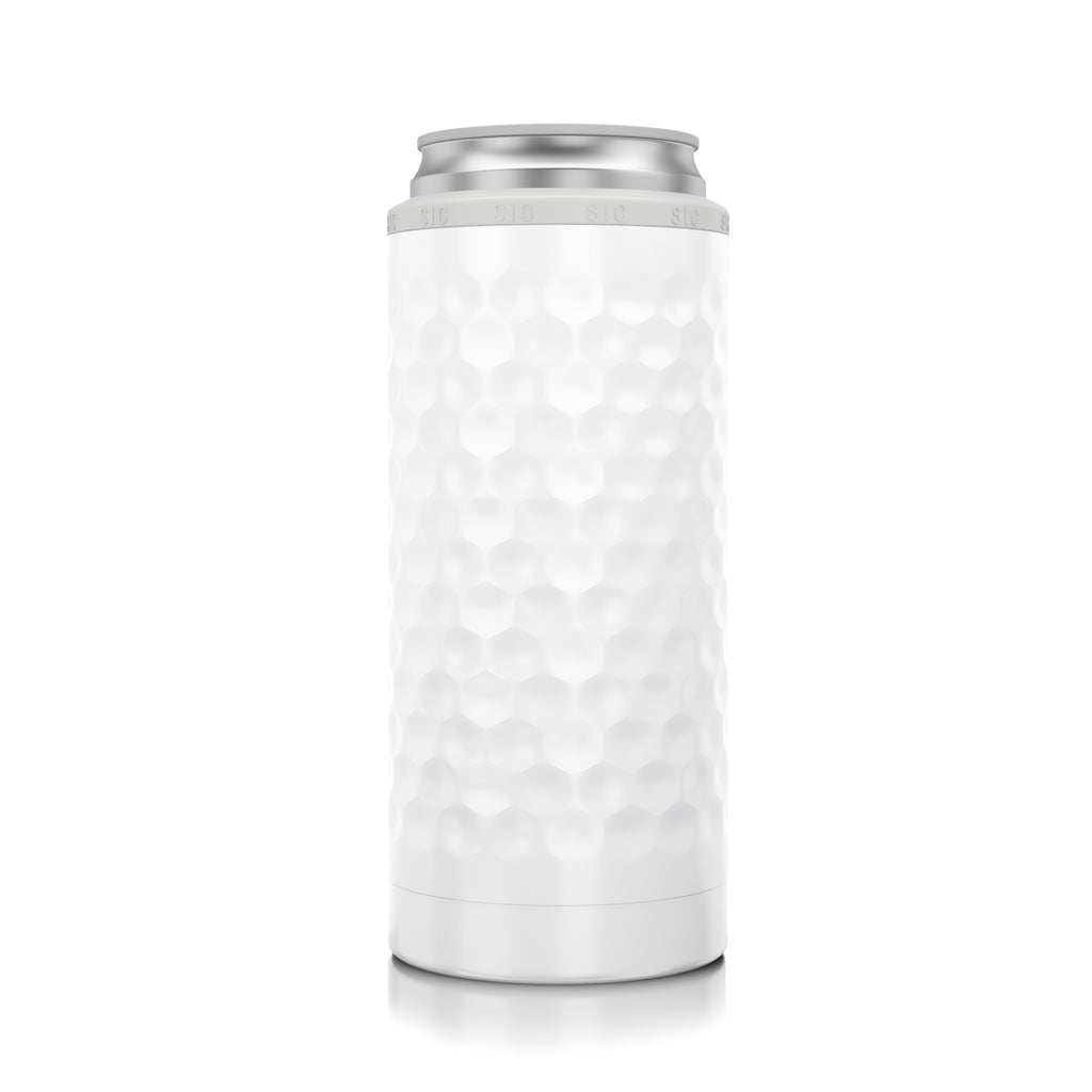 SIC Slim Can Cooler Dimpled Golf