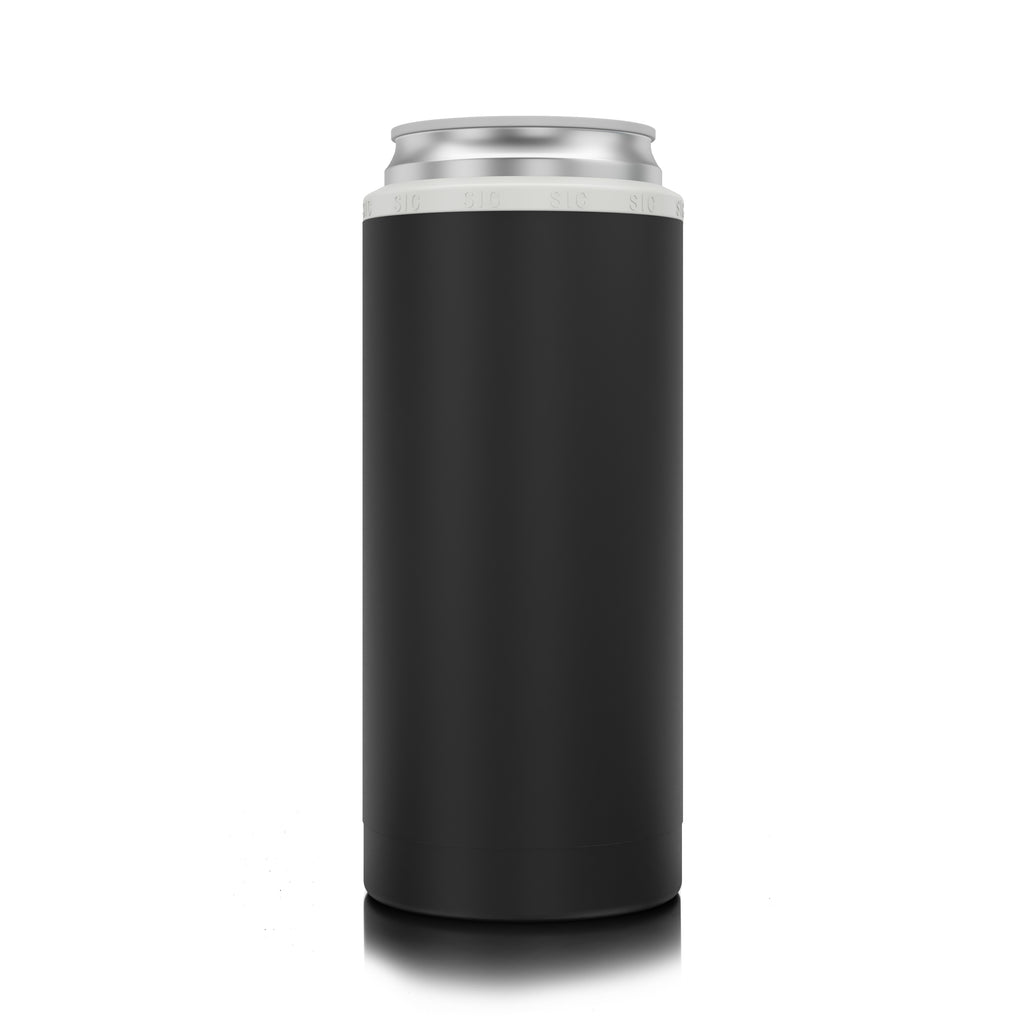 SIC Slim Can Cooler Matte Black