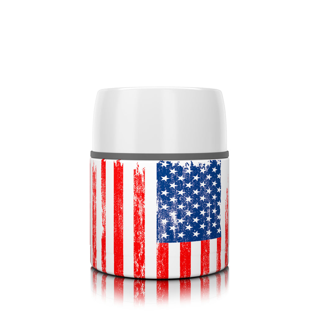 17 oz. American Flag Food Insulator