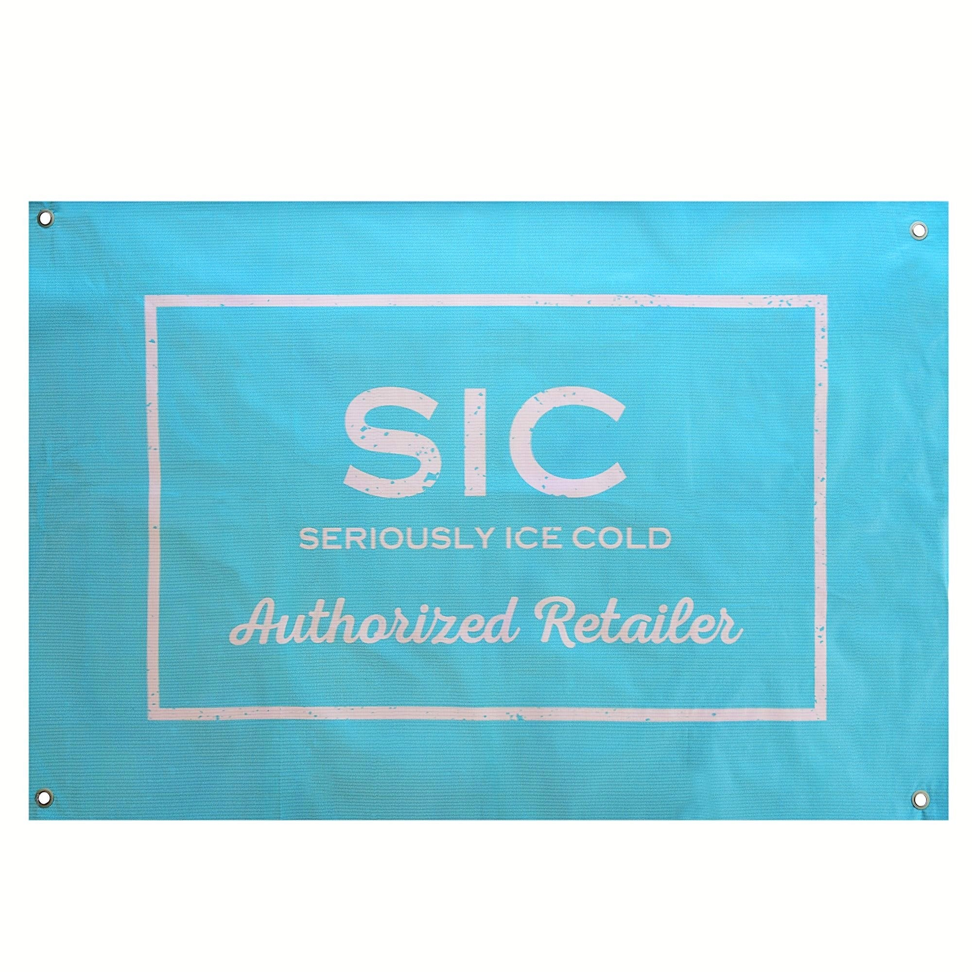 SIC Authorized Retailer Banner (Seafoam)