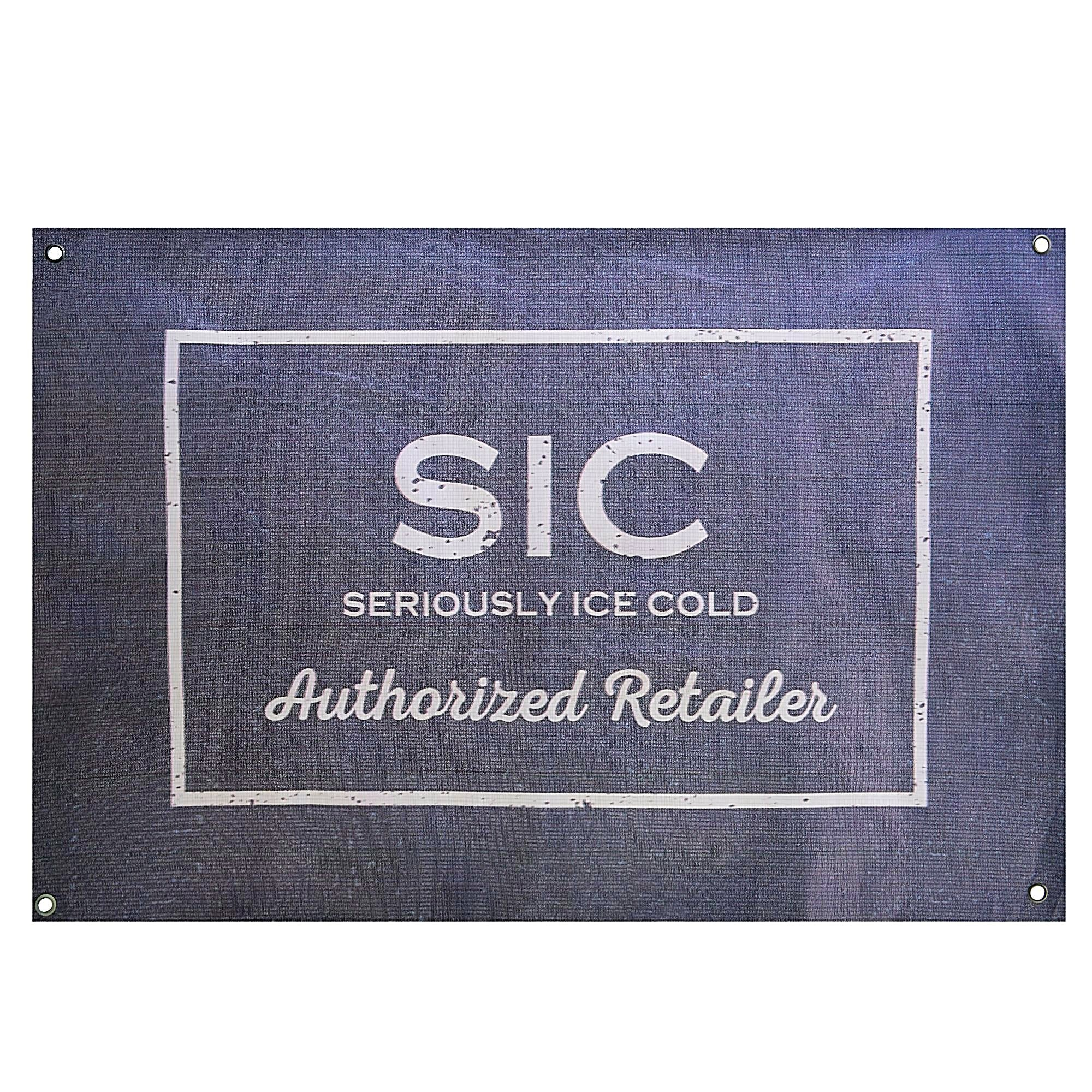 SIC Authorized Retailer Banner (Black)