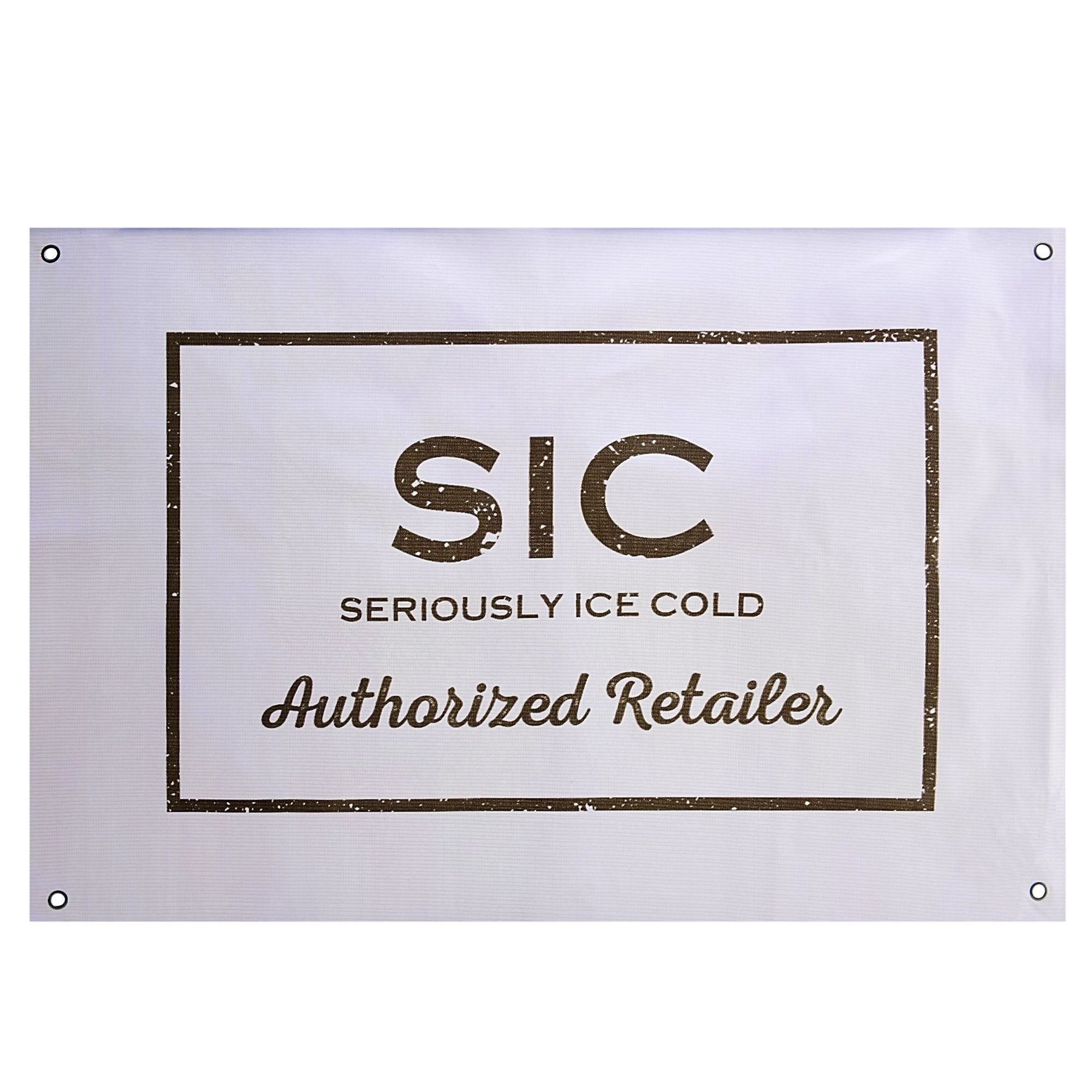 SIC Authorized Retailer Banner (White)