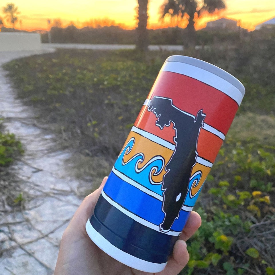 Florida Sunset Slim Can Cooler - SIC® & Sunshine State® Collaboration (12 Pack)