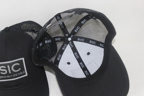 Adult Black/White Trucker Hat