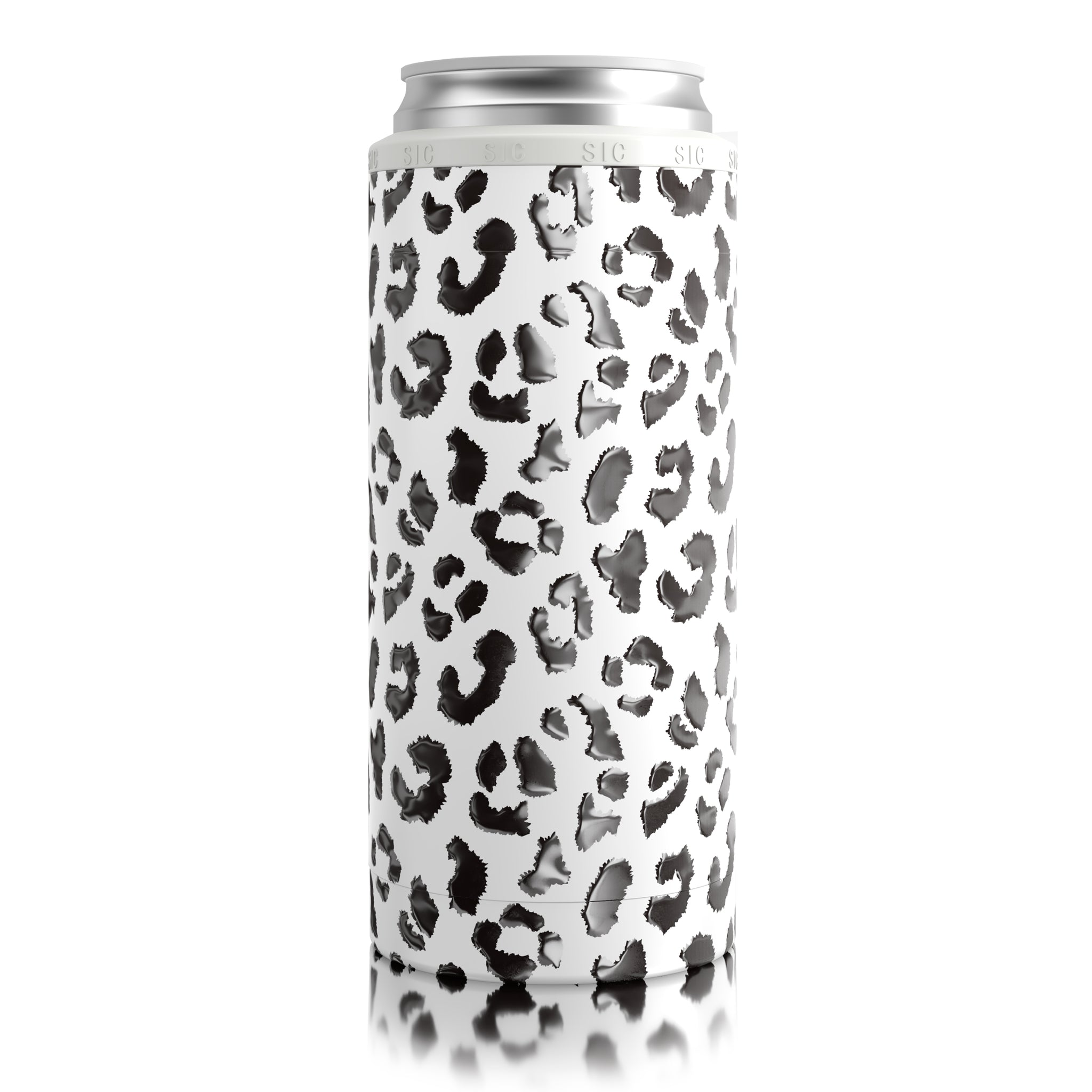 SIC Slim Can Cooler Leopard