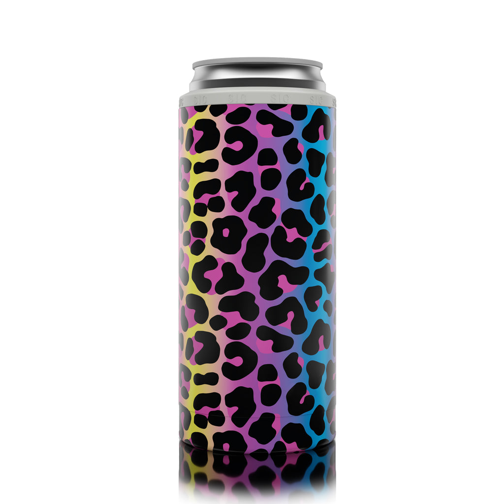 SIC Slim Can Cooler Neon Leopard (12 Pack)