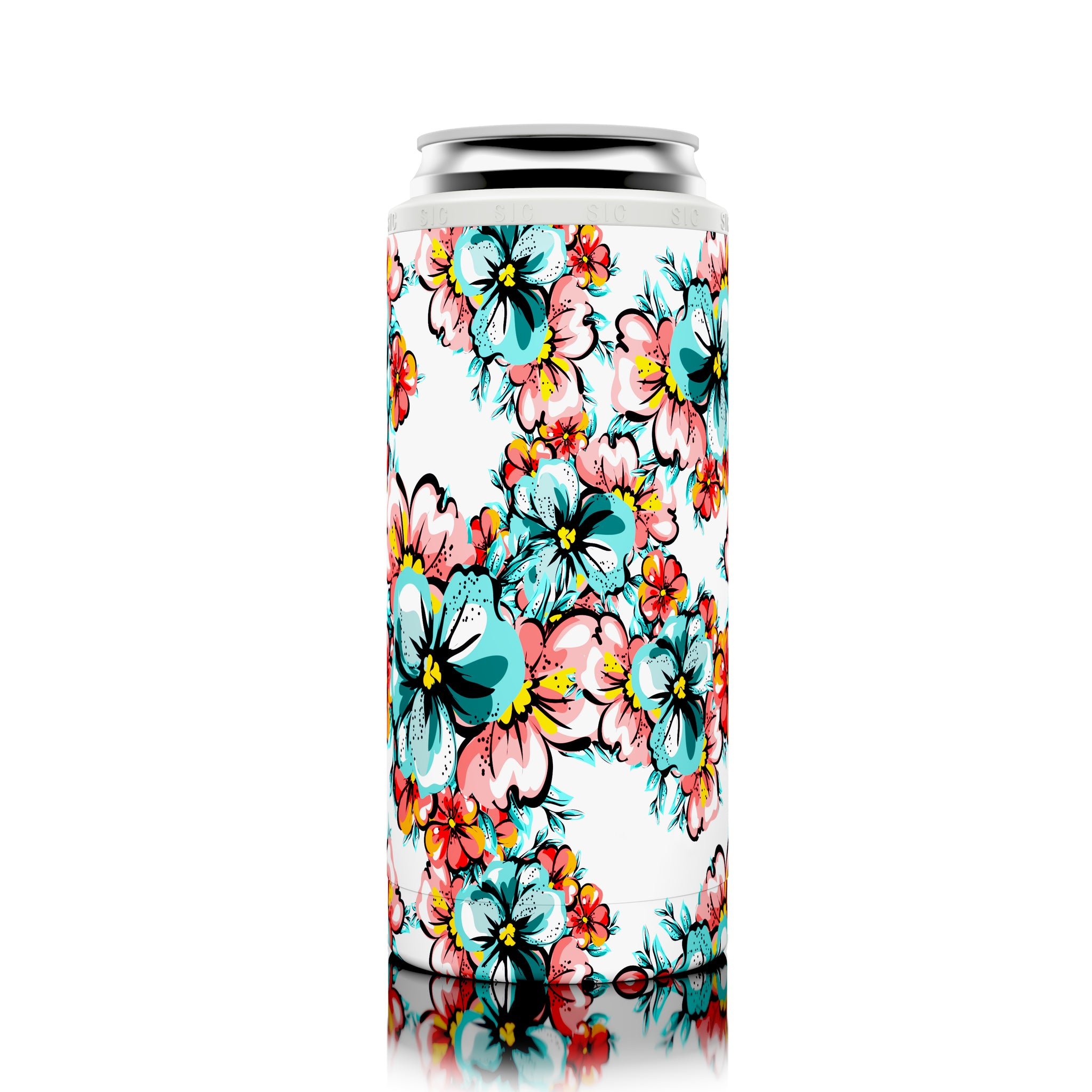 SIC Slim Can Cooler Hawaiian Hibiscus