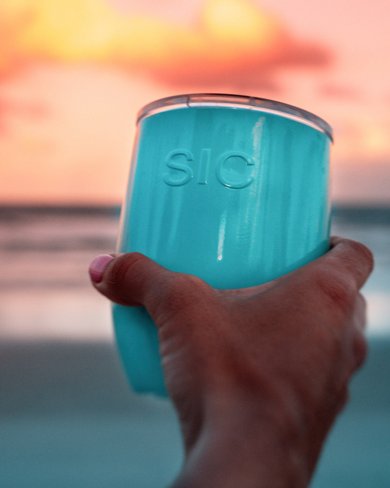 16 oz. Seafoam Blue Stemless (12 Pack)